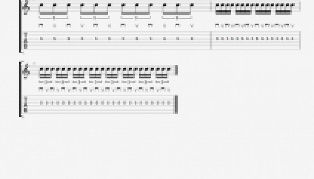 Alternate picking Rhythmic Groups