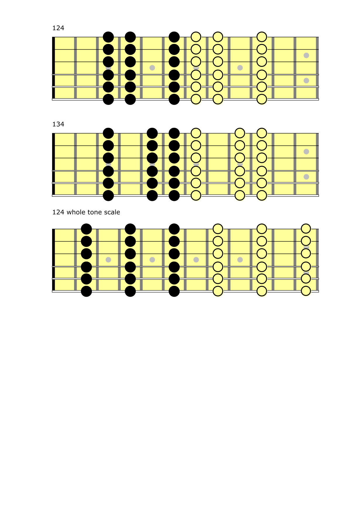 introducing major scale and tapping